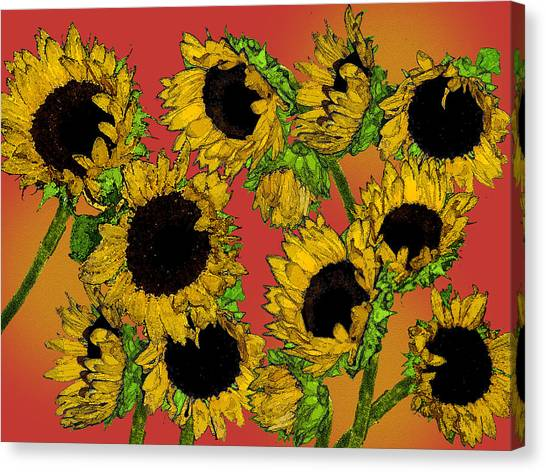 Sunflowers Canvas Print by Robert Ashbaugh