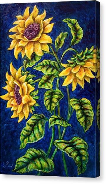 Sunflowers Canvas Print by Sebastian Pierre