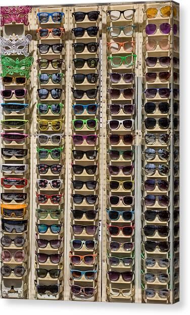 Venice Beach Canvas Print - Sunglasses by Peter Tellone