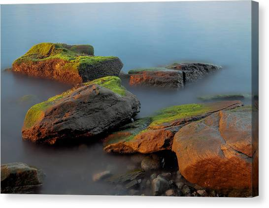 Sunkissed Rocks Canvas Print