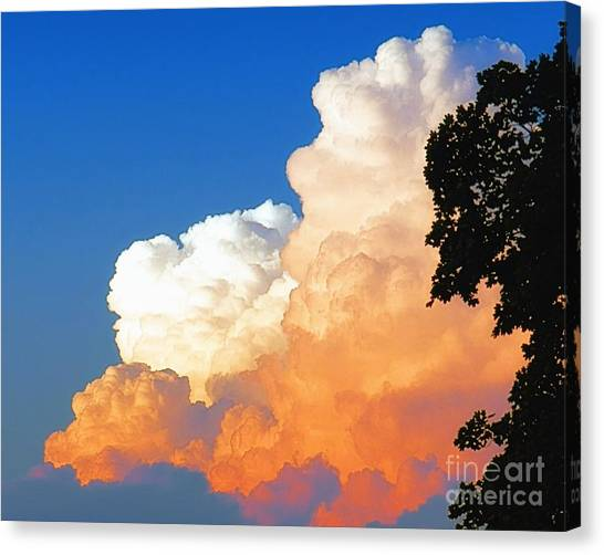 Sunkissed Storm Cloud Canvas Print