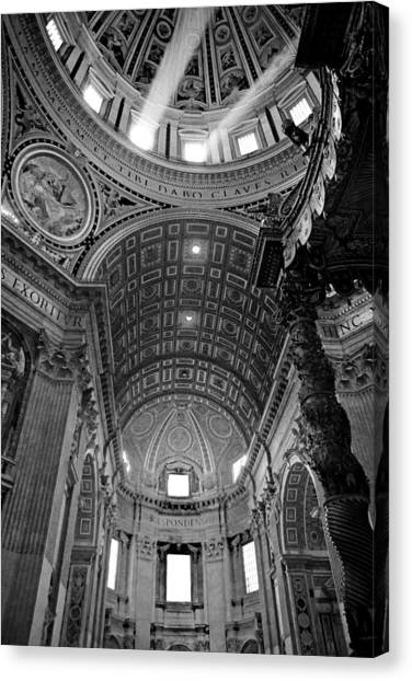 Sunlight In St. Peter's Canvas Print