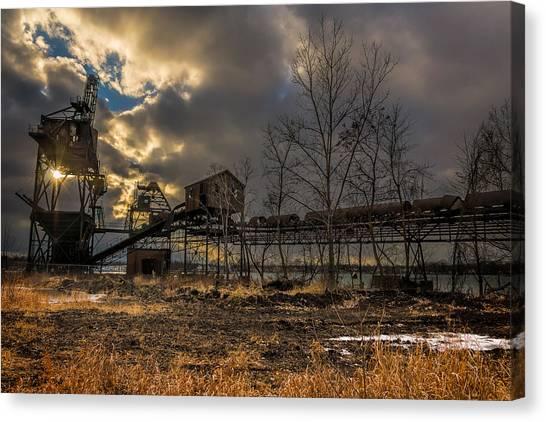 Sunlight Through A Coal Loader Canvas Print
