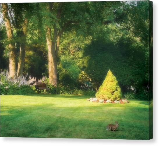 Sunlit Greens Canvas Print