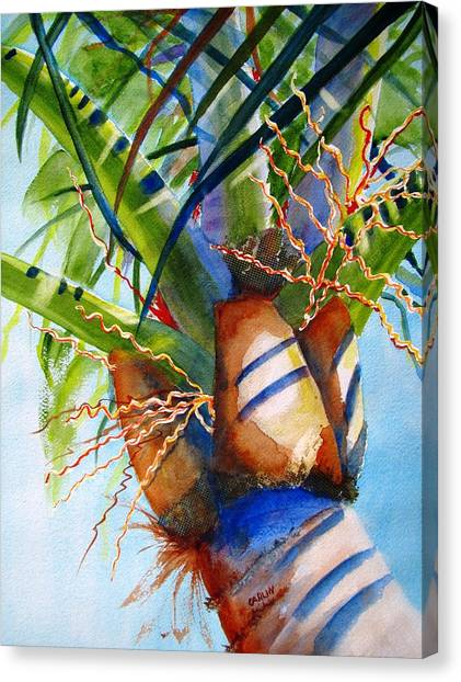 Sunlit Palm Canvas Print