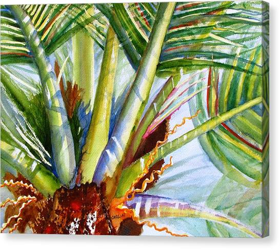 Sunlit Palm Fronds Canvas Print