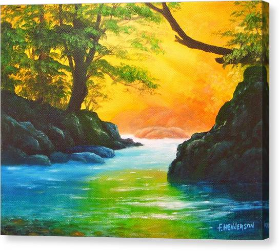 Sunlit Stream Canvas Print