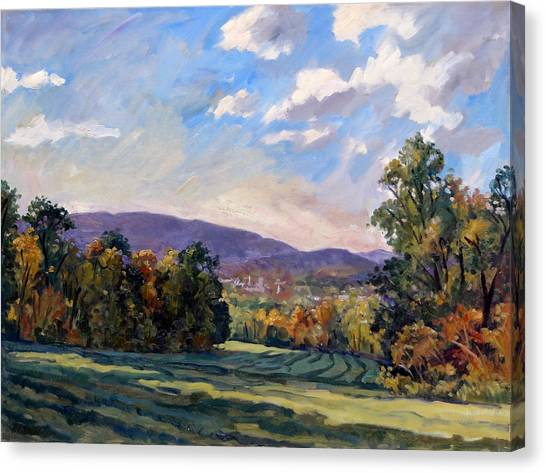 Sunny Autumn Berkshires Canvas Print