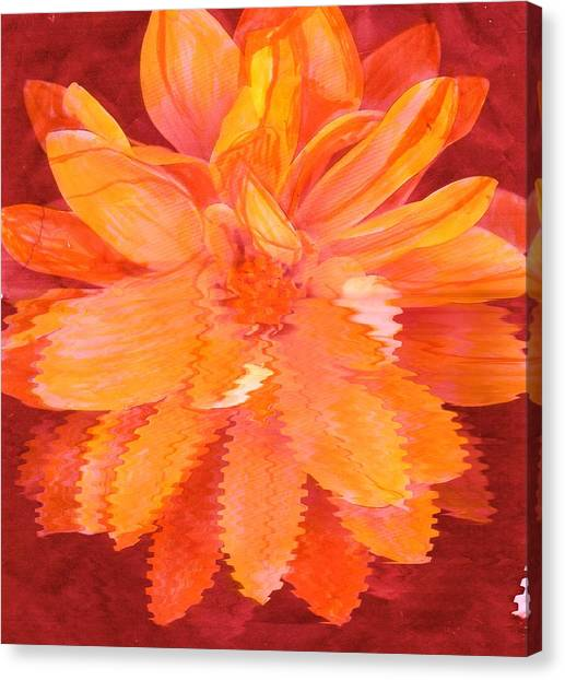 Sunny Burst Of Color Floral Canvas Print by Anne-Elizabeth Whiteway