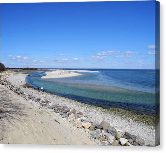 Sunny Day Beachside Canvas Print by Lynda Lehmann