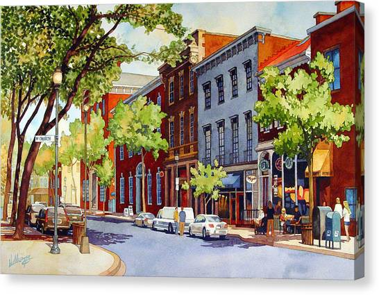 Sunny Day Cafe Canvas Print