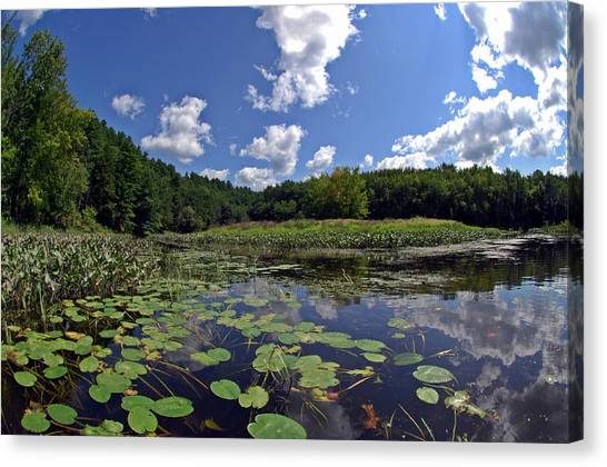 Sunny Day On The Merrimack Canvas Print
