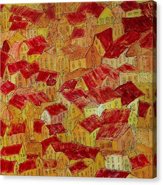 Prague Canvas Print - Sunny Day by Oscar Penalber