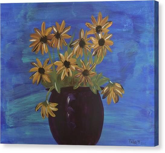 Sunny Day Sunflowers Canvas Print