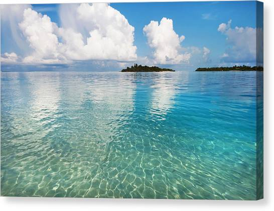 Sunny Invitation For  You. Maldives Canvas Print