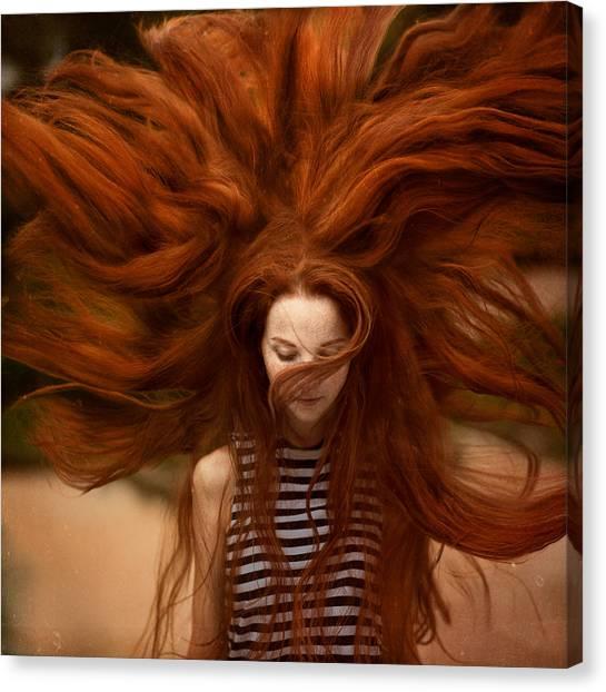 Hair Canvas Print - sunny Katia by Anka Zhuravleva