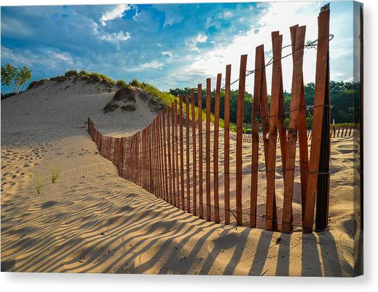 Sunny Morning On The Dunes Canvas Print