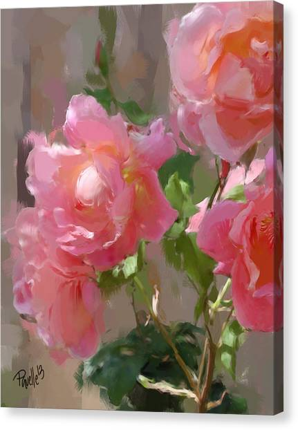 Sunny Roses Canvas Print
