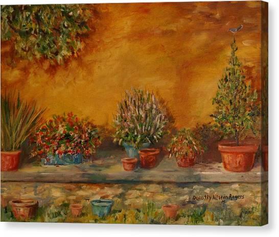 Sunny Sideyard Canvas Print