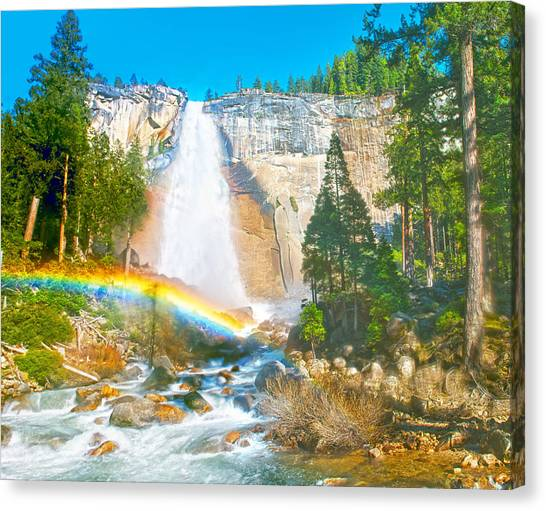 Nevada Fall On A May Afternoon Canvas Print