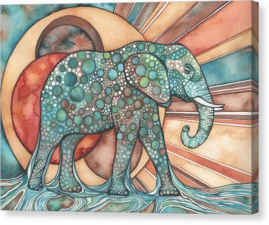 Organic Canvas Print - Sunphant Sun Elephant by Tamara Phillips