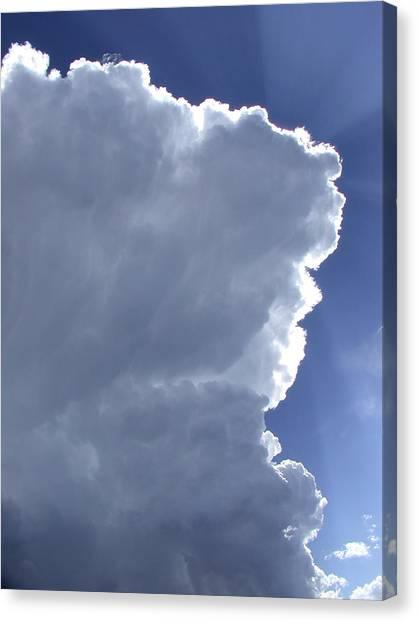 Sunrays Above Canvas Print