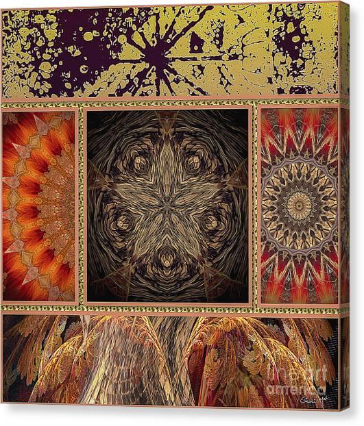 Canvas Print featuring the digital art Sunrays by Eleni Mac Synodinos
