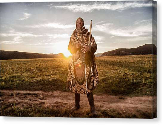 South African Canvas Print - Sunrice Music by Louis Kleynhans