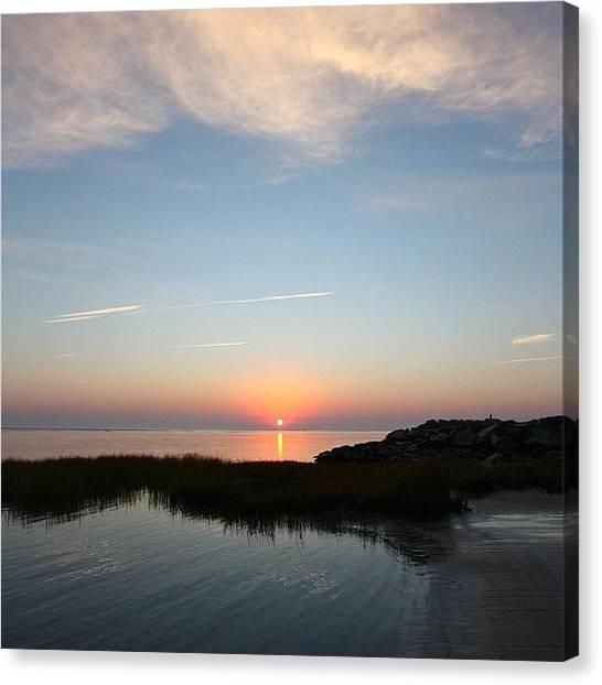 Ocean Sunrises Canvas Print - Sunrise - North Wildwood, Nj by Stephanie Tomlinson