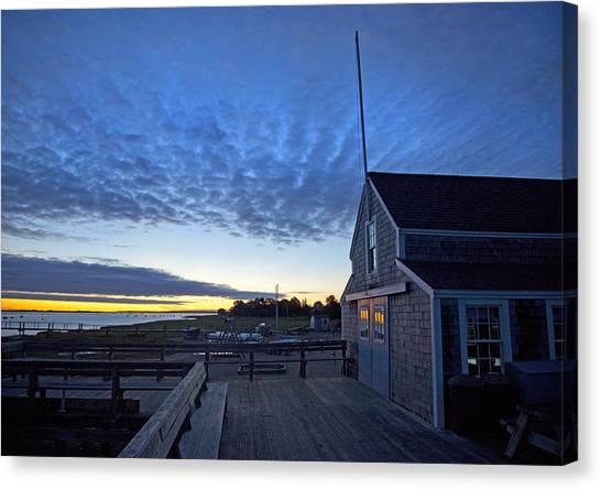 Sunrise At Barnstable Yacht Club Canvas Print