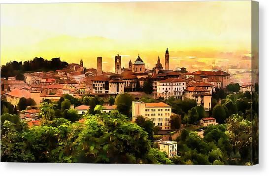 Sunrise At Bergamo Canvas Print