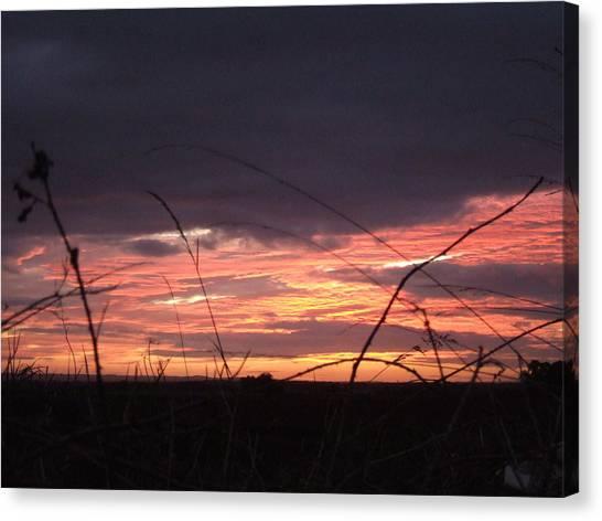 Sunrise At Boroughbridge Canvas Print