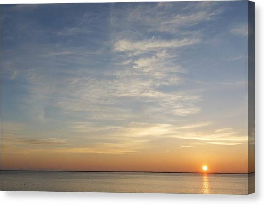 Canvas Print featuring the photograph Sunrise At Cheyenne Bottoms by Rob Graham
