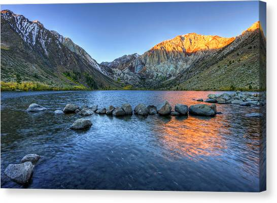 Sunrise At Convict Lake Canvas Print