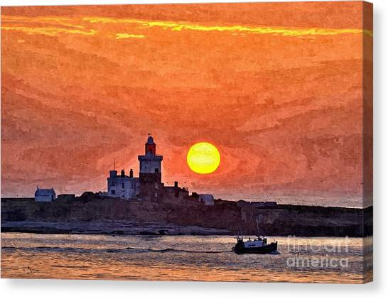 Sunrise At Coquet Island Northumberland - Photo Art Canvas Print