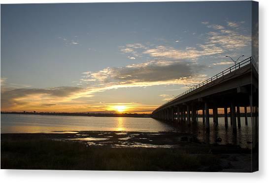 Sunrise At Corpus Christi Canvas Print
