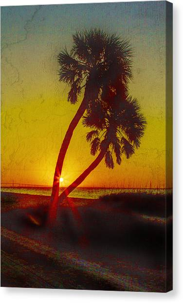 Sunrise At Fort De Soto Canvas Print