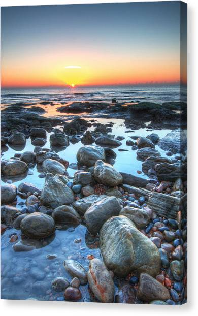 Sunrise At Low Tide Canvas Print