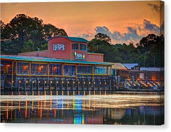 Sunrise At Lulu's Canvas Print