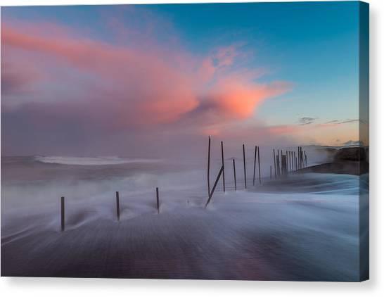 Sunrise At Mackerricher Canvas Print by Mike  Walker