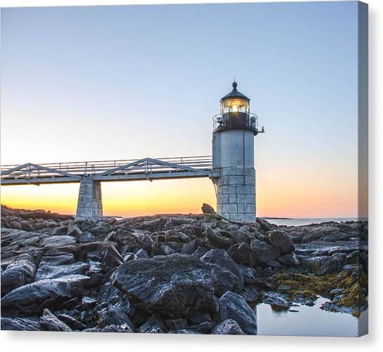 Sunrise At Marshall Point Lighthouse Canvas Print