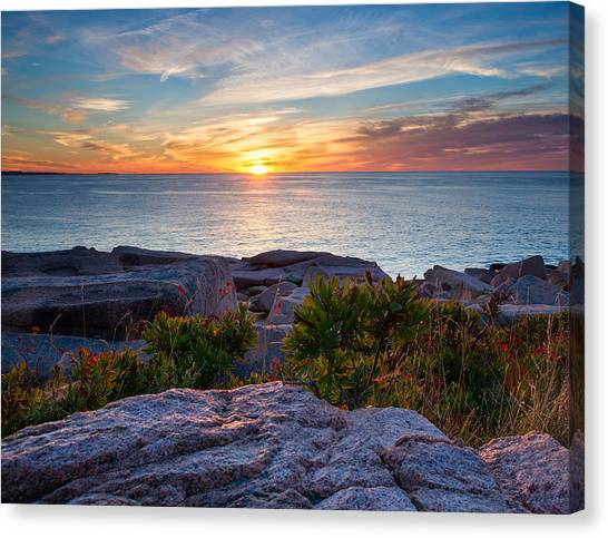 Sunrise At Otter Cliffs Canvas Print