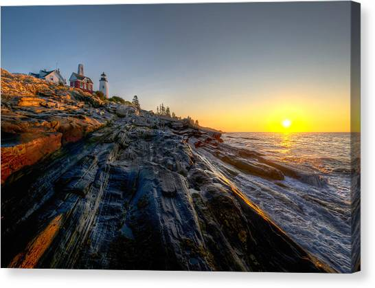 Sunrise At Pemaquid Point Canvas Print