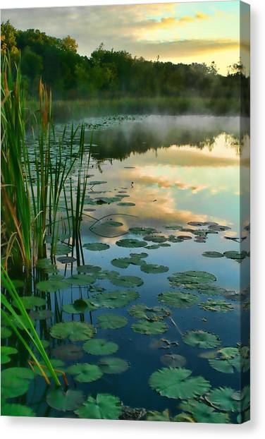 Sunrise At Pokagon State Park  Canvas Print