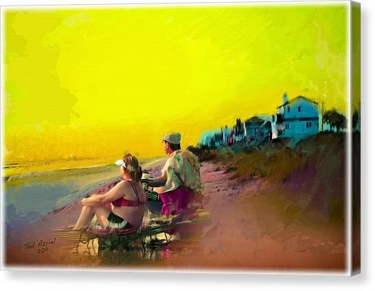 Sunrise At Ponte Vedras Canvas Print