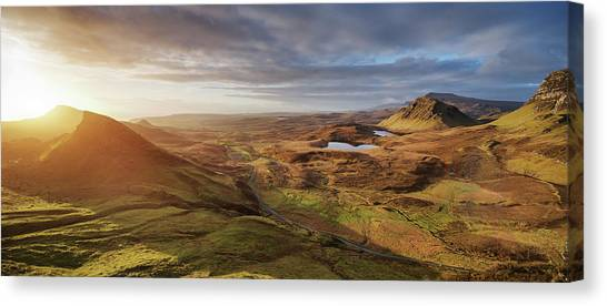 Sunrise At Quiraing, Isle Of Skye Canvas Print by Spreephoto.de