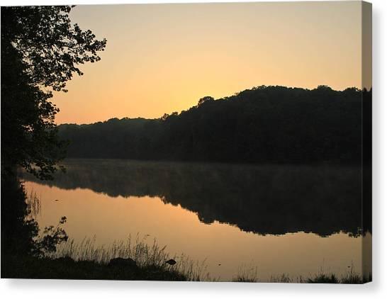 Sunrise At Rose Lake Canvas Print