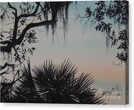 Sunrise At Shellmans Bluff Canvas Print