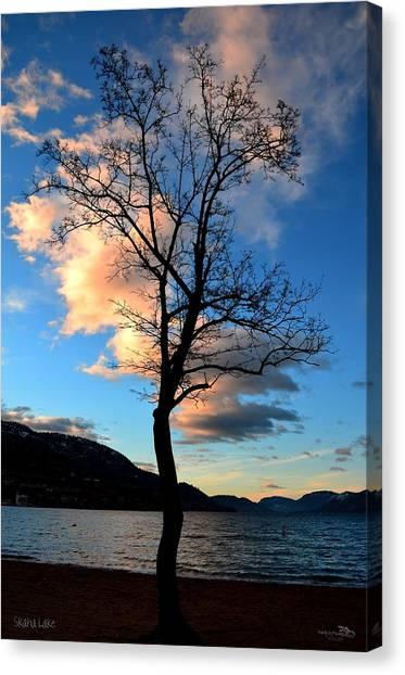 Sunrise At Skaha Lake 03-07-2014 Canvas Print