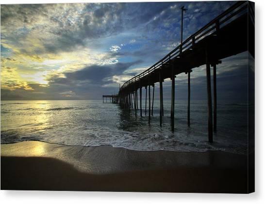 Sunrise At The Pier Canvas Print